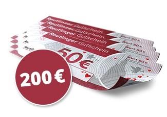 200€ Reutlingen Gutscheine